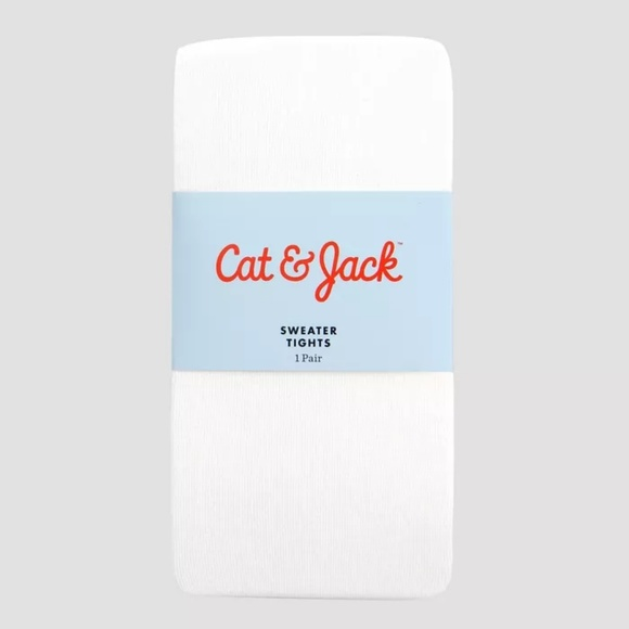 Cat & Jack Other - Girls White Sweater Footed Tights